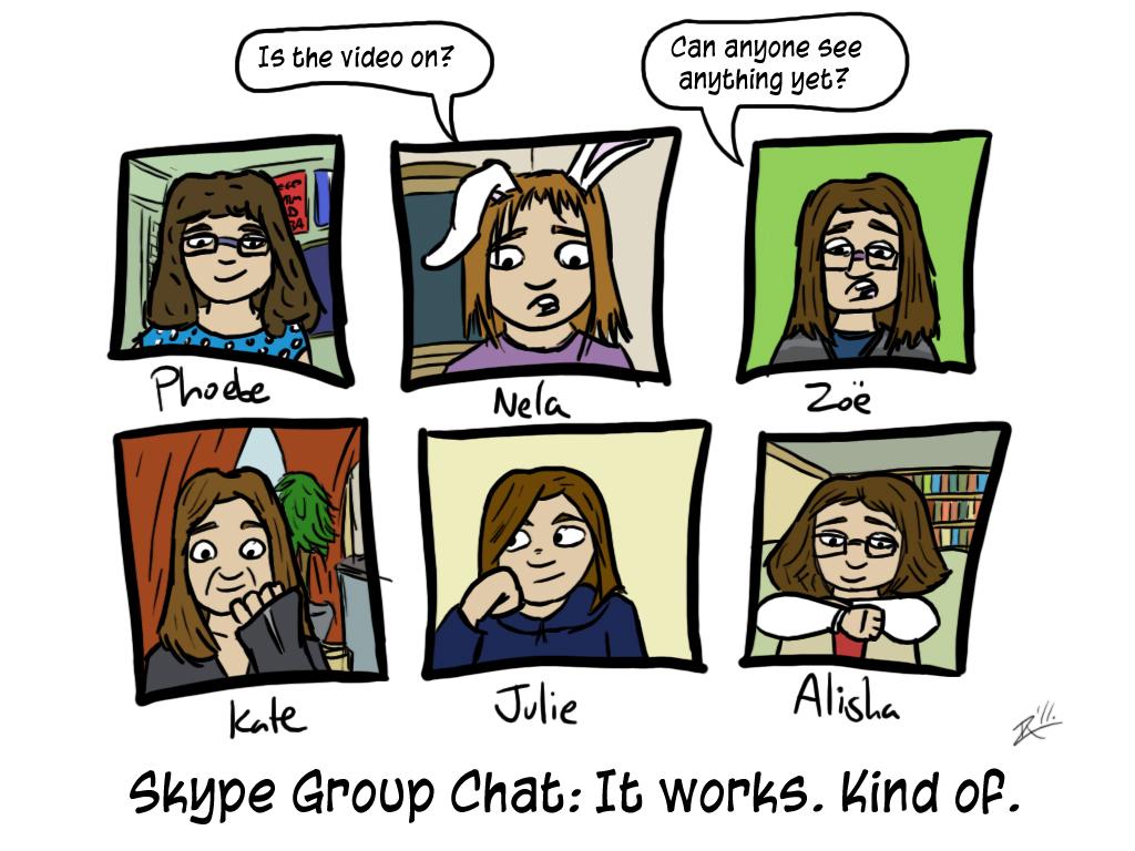 Comic Skype Gruppen Chat
