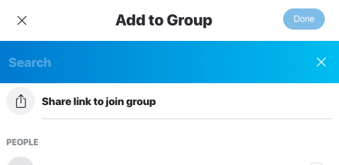 Screenshot Skype > Group > Add to Group > Share link to join group