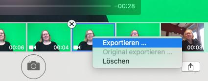 Video speichern > Video exportieren